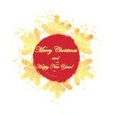 Plakat dla nowego roku ` s i Bożenarodzeniowych powitań royalty ilustracja