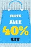 Plakat dla sprzedaży w sklepie Zdjęcie Stock