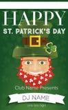 Plakat dla St Patricks dnia przyjęcia również zwrócić corel ilustracji wektora Fotografia Royalty Free
