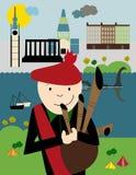 Plakat: Edynburg, Szkocja ilustracji