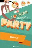 Plakat für Cocktailparty Lizenzfreies Stockbild