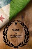 Plakat für den Staat von Dschibuti Lizenzfreies Stockbild