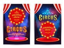 Plakat für den Zirkus lizenzfreie abbildung