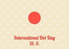 Plakat für Jahresfeier von internationalem Dot Day - Septemb Lizenzfreies Stockfoto
