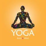 Plakat für Meditationsklasse Lizenzfreie Stockfotos
