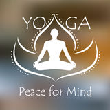 Plakat für Meditationsklasse Stockbilder