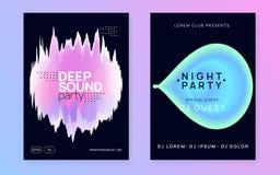 Plakat für Sommer Fest und Musikflieger lizenzfreie abbildung