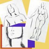 Plakat für zeichnende Kurse Lizenzfreie Stockfotos