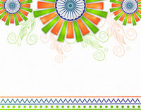 Plakat, Fahne für Tag der Republik-Feier Stockbilder