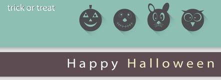 Plakat-, Fahne oder Hintergrund Halloween-Partei-Nacht Lizenzfreie Stockfotos