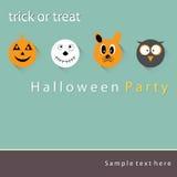 Plakat-, Fahne oder Hintergrund Halloween-Partei-Nacht Lizenzfreie Stockfotografie