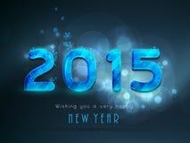 Plakat, Fahne oder Karte für Feiern des guten Rutsch ins Neue Jahr 2015 Stockfotografie