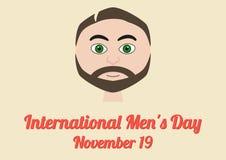 Plakat für den internationalen Tag der Männer (19. November) Lizenzfreie Stockfotos