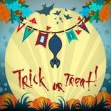 Plakat-Halloween-Tag Lizenzfreie Stockfotografie