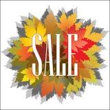 Plakat-Herbstverkauf Stockbild