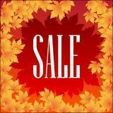 Plakat-Herbstverkauf Stockfotografie