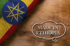 Plakat hergestellt in Äthiopien Lizenzfreie Stockfotografie