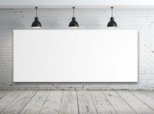 Plakat im weißen Raum Stockfotos