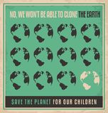 Plakat-Konzept des Entwurfes der Ökologie Retro- lizenzfreie abbildung