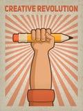 plakat Kreative Revolution lizenzfreies stockbild