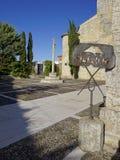 Plakat lokalizować w monasterze prowincja Palencia cisza zdjęcie royalty free