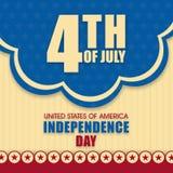 Plakat lub sztandar dla Amerykańskiego dnia niepodległości Obraz Royalty Free