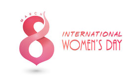 Plakat lub sztandar dla Międzynarodowego kobieta dnia świętowania Obraz Stock