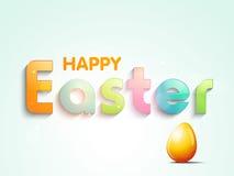 Plakat lub sztandaru projekt dla Szczęśliwego Wielkanocnego świętowania Obraz Stock