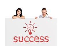 Plakat med framgång arkivbilder