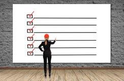 Plakat mit Checkliste lizenzfreie abbildung