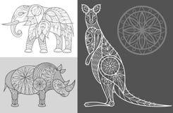 Plakat mit dekorativen Tieren Lizenzfreie Stockfotografie