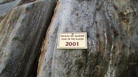 Plakat mit dem Niveau des Gletschers Stockbilder