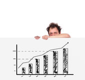 Plakat mit Diagramm lizenzfreies stockfoto