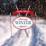 Plakat mit einer Winterlandschaft ENV, JPG Stockfotografie