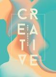 Plakat mit heller flüssiger Tinte Moderne Arttendenzen Hintergrund Stockfoto