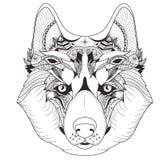 Plakat mit kopiertem Schlittenhund Lizenzfreies Stockbild