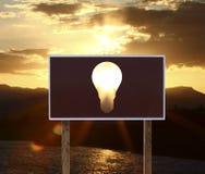 Plakat mit Lampe Lizenzfreie Stockfotografie