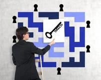 Plakat mit Schlüssel Lizenzfreie Stockfotos