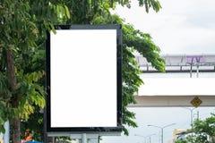 Plakat-Modell-Schablone in Bangkok Lizenzfreie Stockbilder