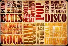 plakat muzyczna skała Obrazy Stock