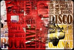 plakat muzyczna skała Zdjęcia Royalty Free