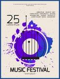 plakat muzyki Zdjęcia Stock