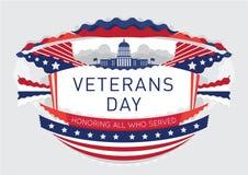Plakat- oder Broschürenschablonen am Veteranentag Lizenzfreies Stockfoto