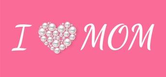 Plakat oder -fahne der glücklichen Frauen Tagesfür Muttertagfeiertag lizenzfreie abbildung