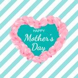 Plakat oder -fahne der gl?cklichen Frauen Tagesf?r Muttertagfeiertag lizenzfreie abbildung