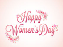 Plakat oder Fahne für den Tag der Frauen Lizenzfreie Stockfotografie