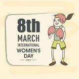 Plakat oder Fahne für Feier der internationalen Frauen Tages Stockfotografie