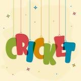 Plakat oder Fahne für Kricket-Sportkonzept Stockfotografie