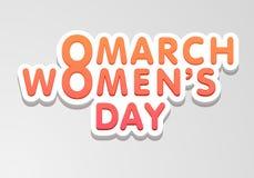 Plakat- oder Fahnendesign für Feier der Frauen Tages Stockfotografie