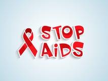 Plakat- oder Fahnendesign für Welt-Aids-Tag Lizenzfreie Stockfotografie